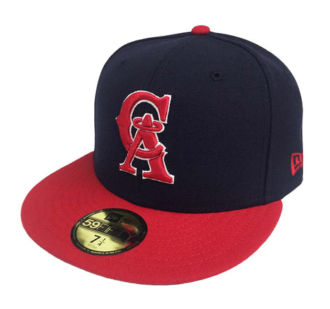 California Angels Fitted New Era 59Fifty Navy Red Cap Hat