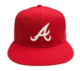 Atlanta Braves Snapback New Era 9FIFTY Logo Red Cap Hat