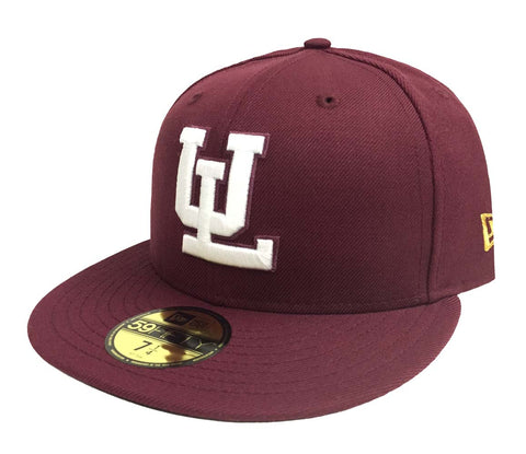 Algodoneros de Union Laguna Fitted New Era 59Fifty LMB Burgundy Cap Hat