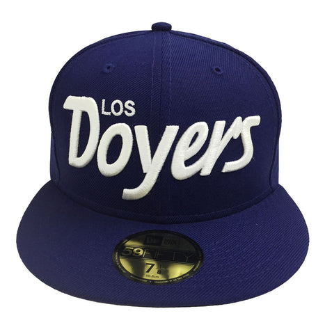 Los Angeles Dodgers Fitted New Era 59FIFTY Los Doyers Cap Hat Blue