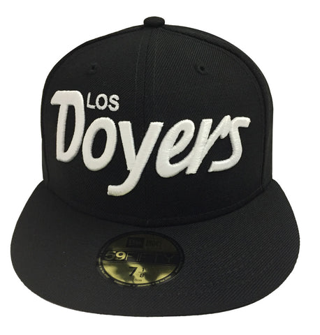 Los Angeles Dodgers Fitted New Era 59FIFTY Los Doyers Cap Hat Black