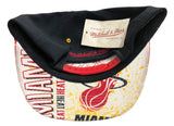 Miami Heat Snapback Mitchell & Ness Speckle Print Bill Cap Hat