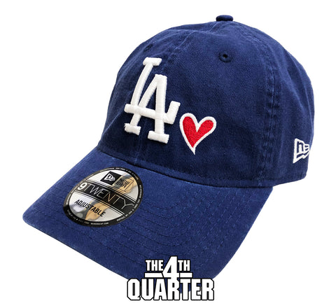 Los Angeles Dodgers Strapback New Era 9Twenty Adjustable Heart Blue Cap Hat
