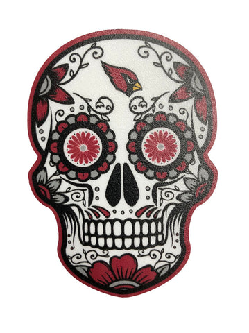 "Arizona Cardnials Decal Skull Logo 2.5"" X 3.5"" Small Sticker"