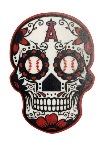 "Anaheim Angels Decal Skull Logo 2.5"" X 3.5"" Small Sticker"