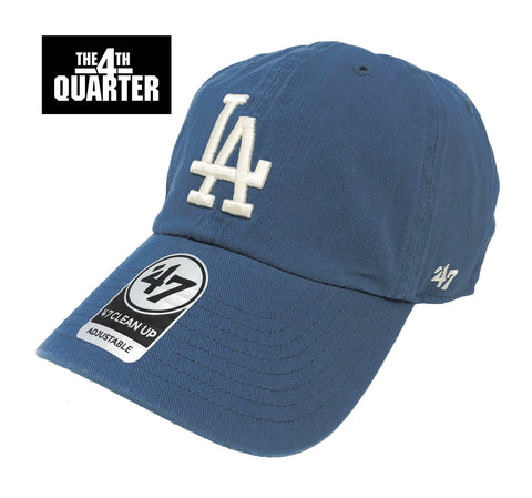 Los Angeles Dodgers Strapback '47 Brand Clean Up Adjustable Timber Blue