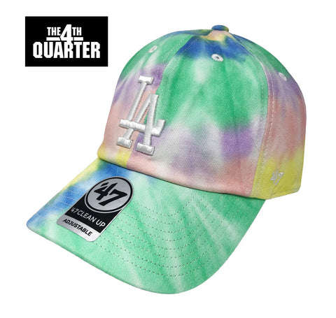 Los Angeles Dodgers Strapback '47 Brand Clean Up Adjustable Cap Hat Tie Dye
