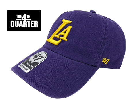 Los Angeles Lakers Strapback '47 Brand Clean Up Adjustable Cap Hat Purple
