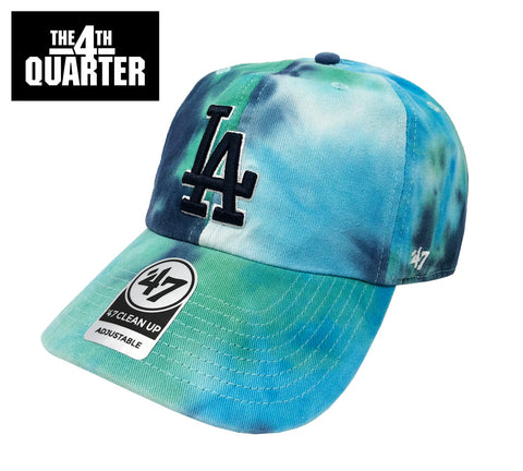 Los Angeles Dodgers Strapback Adjustable '47 Brand Clean Up Teal Marbled Cap Hat