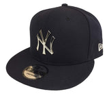 New York Yankees Snapback New Era 9Fifty Silver Metal Logo Navy