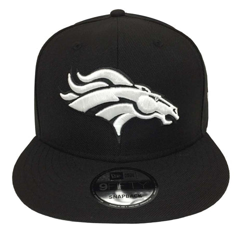 Denver Broncos Snapback New Era 9FIFTY Black White Hat Cap