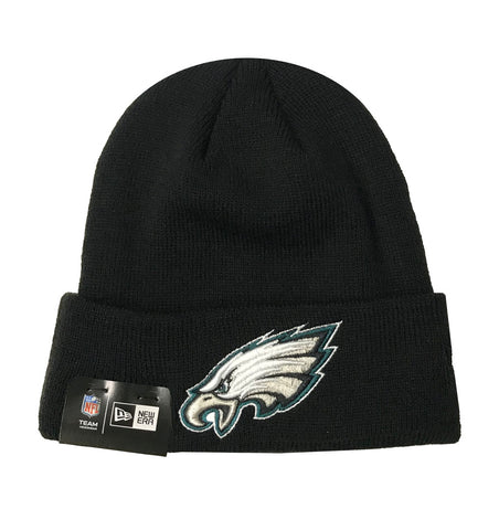 Philadelphia Eagles Beanie New Era Basic Knit Fold Black