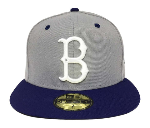 Brooklyn Dodgers Fitted New Era 59Fifty Grey Blue WL Cap Hat