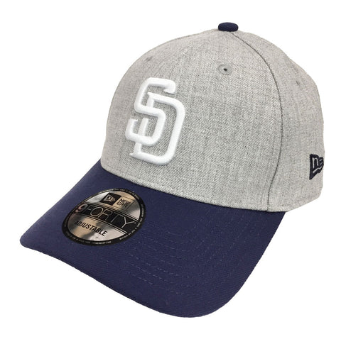 San Diego Padres Velcro New Era 9Forty Adjustable The League Heather Cap Hat