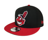 Cleveland Indians Snapback New Era 9Fifty XL Logo Black Red Cap Hat