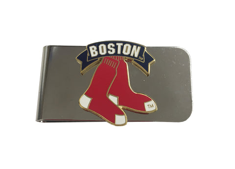 Boston Red Sox Stainless Steel Logo Money Clip