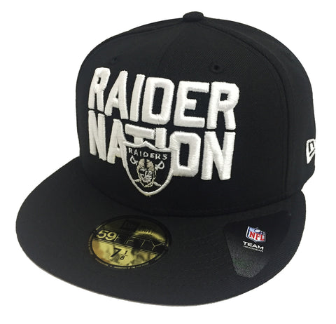 Oakland Raiders Fitted New Era 59Fifty 2018 NFL Draft Hat Cap Black