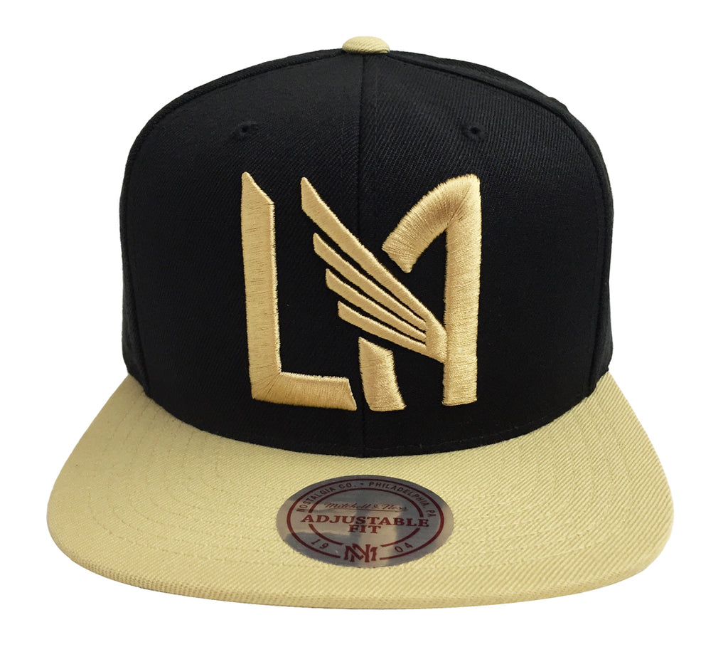 26142ec6b1e Los Angeles FC Snapback LA logo Mitchell   Ness Black Gold Hat Cap – THE 4TH  QUARTER
