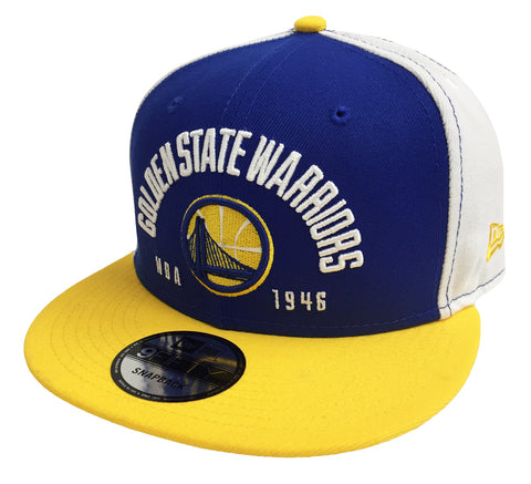 Golden State Warriors Snapback New Era Establisher Tri Cap Hat