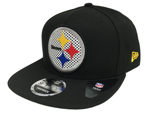 Pittsburgh Steelers Snapback New Era Meshed Mix Cap Hat Black