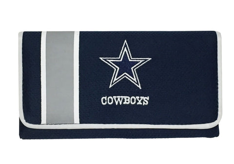 Dallas Cowboys Mesh Shell Embroidered Organizer Wallet