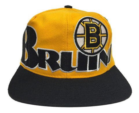 Boston Bruins Snapback Vintage Retro Cap Hat Yellow Black