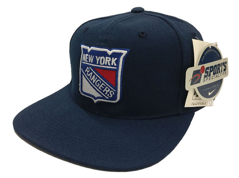 New York Rangers Snapback Vintage Retro Navy Yellow Cap Hat