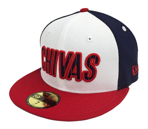 ab6a6f33c8d41 Chivas de Guadalajara Fitted New Era 59Fifty Tri Block Cap Hat