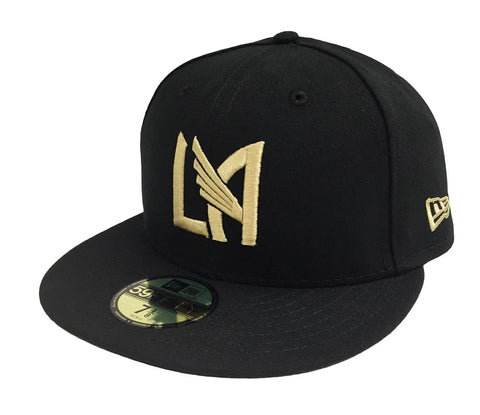 Los Angeles FC Fitted 59Fifty New Era Logo Black Cap Hat