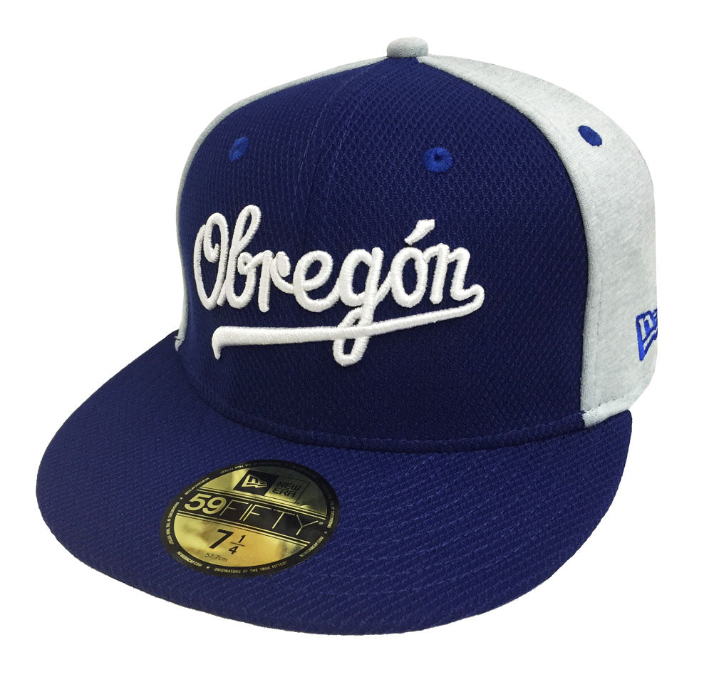 1ccca06d8d5 Yaquis de Obregon Fitted New Era 59Fifty LMP Script Blue Hat Cap ...