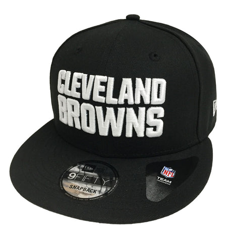 Cleveland Browns Snapback New Era 9FIFTY Bock Black White Hat Cap