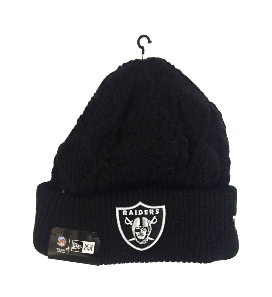 Oakland Raiders Beanie New Era Frost Fresh Pom Knit Cap Hat – THE ... 2eebbdf01