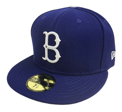 Brooklyn Dodgers Fitted New Era 59FIFTY Logo Cap Hat Blue