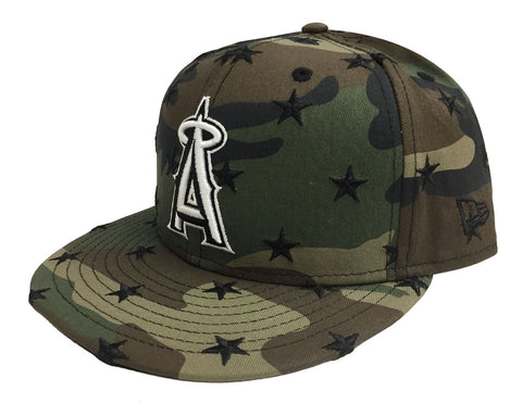 Anaheim Angels Snapback Star Scatter New Era 9FIFTY Camo Cap Hat