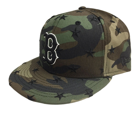 Boston Red Sox Snapback Star Scatter New Era 9FIFTY Camo Cap Hat