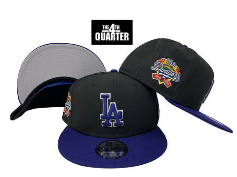 Los Angeles Dodgers Snapback New Era 9FIFTY 100th Anniversary Cap Hat Black Blue WO