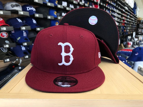 Boston Red Sox Snapback New Era 9Fifty Burgundy Cap Hat