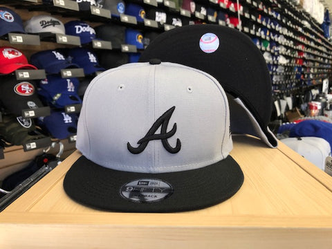 Atlanta Braves Snapback New Era 9Fifty Grey Black Cap Hat