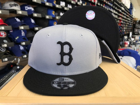 Boston Red Sox Snapback New Era 9Fifty Grey Black Cap Hat