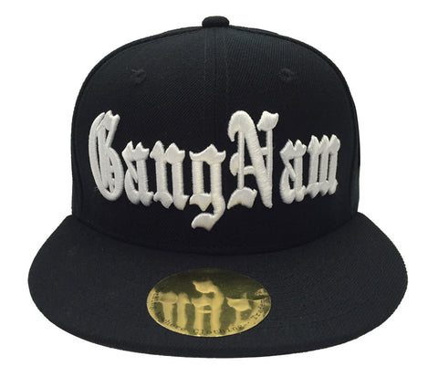 Gangnam Style Old English Snapback Cap Hat Black