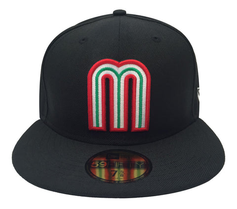 Mexico Fitted New Era 59FIFTY Hat World Baseball Classics Cap Black
