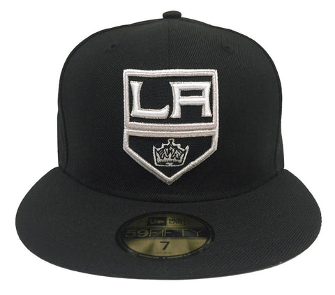 Los Angeles Kings Fitted New Era 59Fifty Shield Logo Black Cap Hat