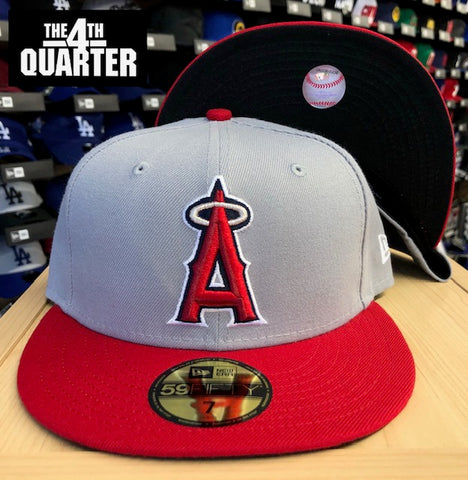 Anaheim Angels Fitted New Era 59Fifty Alternate Logo Grey Red Cap Hat