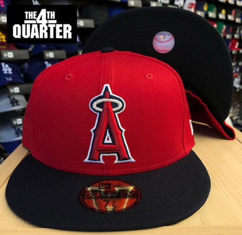 Anaheim Angels Fitted New Era 59Fifty Alternate Logo Red Navy Cap Hat