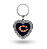 Chicago Bears Rhinestone Heart Key Chain