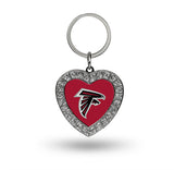Atlanta Falcons Rhinestone Heart Key Chain