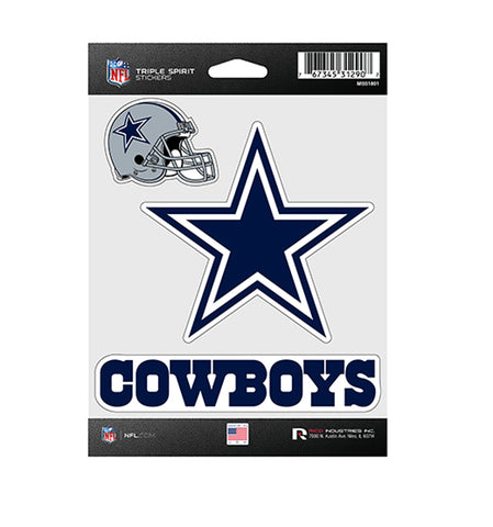 Dallas Cowboys Sticker Triple Spirit Pack