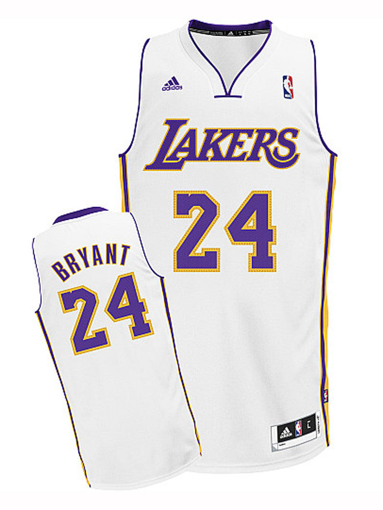 Los Angeles Lakers Mens Jersey Adidas  24 Kobe Bryant Swingman White ... d188d67d6