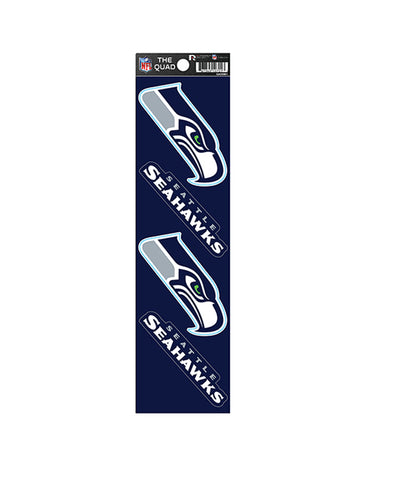 Seattle Seahawks The Quad 4-Pack Decal