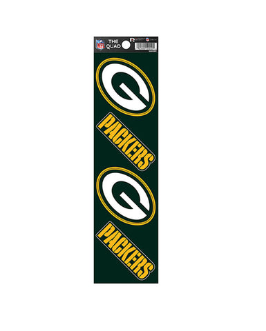 Green Bay Packers The Quad 4-Pack Decal